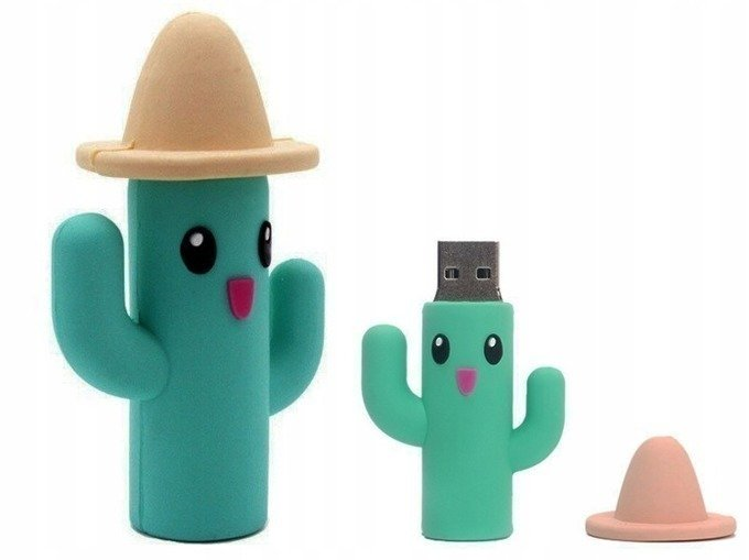PENDRIVE KAKTUS w Kapeluszu FLASH PAMIĘĆ USB 16GB