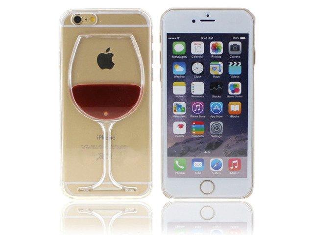 ETUI CASE Plastik iPhone 8 PLUS KIELISZEK WINA
