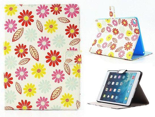 ETUI Case Obudowa Futerał APPLE iPad 5 KWIATY