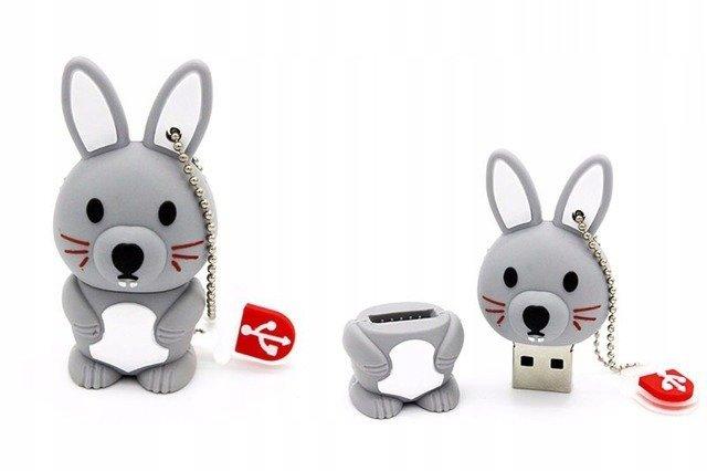 PENDRIVE KRÓLIK KRÓLICZEK ZWIERZĘ FLASH USB 64GB