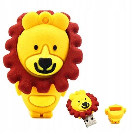 PENDRIVE LEW Zwierzę Dzikie Król Flash USB 16GB
