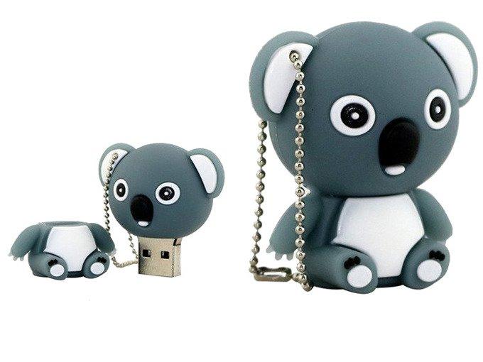 PENDRIVE MIŚ SZARY ZWIERZĘ PREZENT USB PAMIĘĆ 16GB
